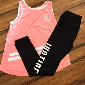 Active T-shirt and legging set